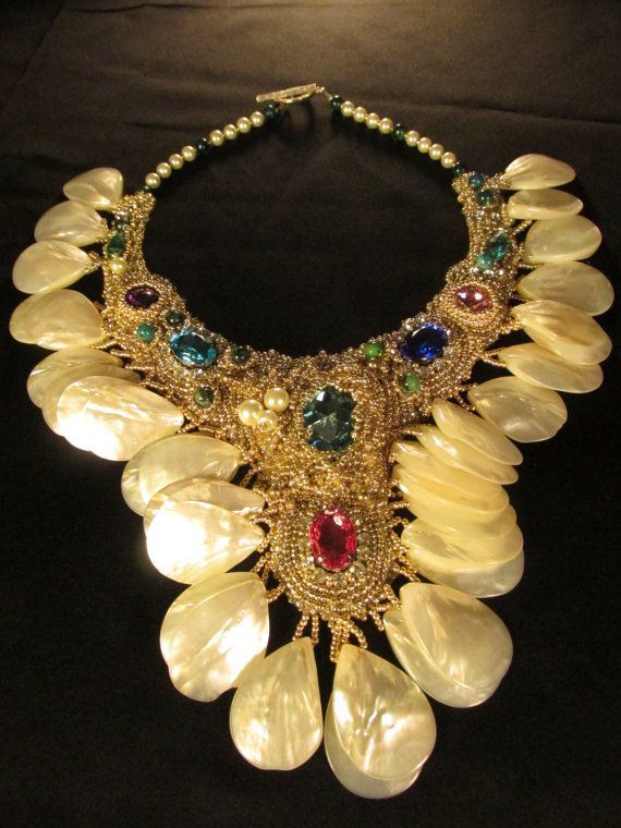 Absolutely stunning statement necklace. Unique by MJ2IntDesigns, $450.00