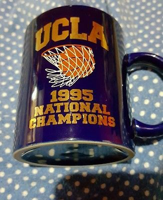 UCLA Bruins BASKETBALL vintage 1995 NATIONAL CHAMPIONSHIP coffee MUG Cup