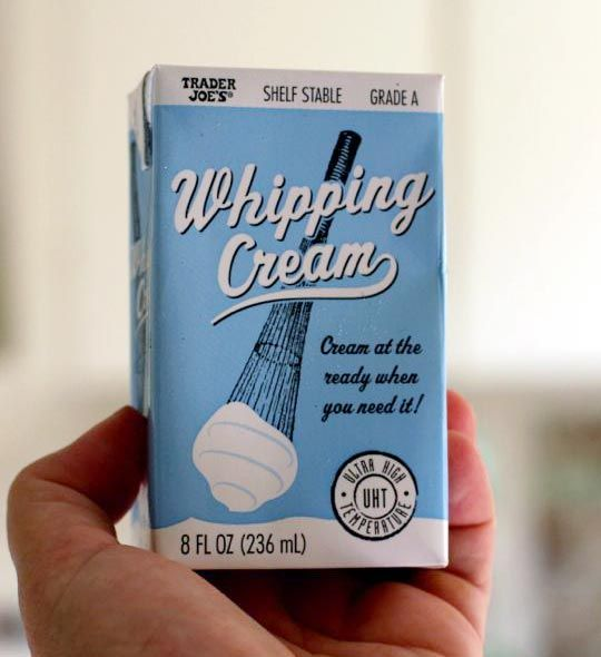 New Product Trader Joe S Shelf Stable Whipping Cream Diseno De