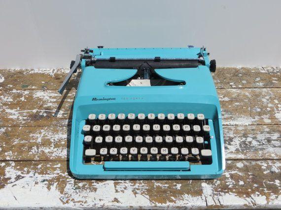 Working Typewriter Vintage Typewriter Remington 1040