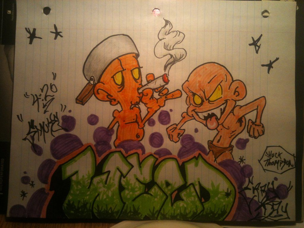 Graffitis weed - YouTube |Weed Graffiti Characters Wizard