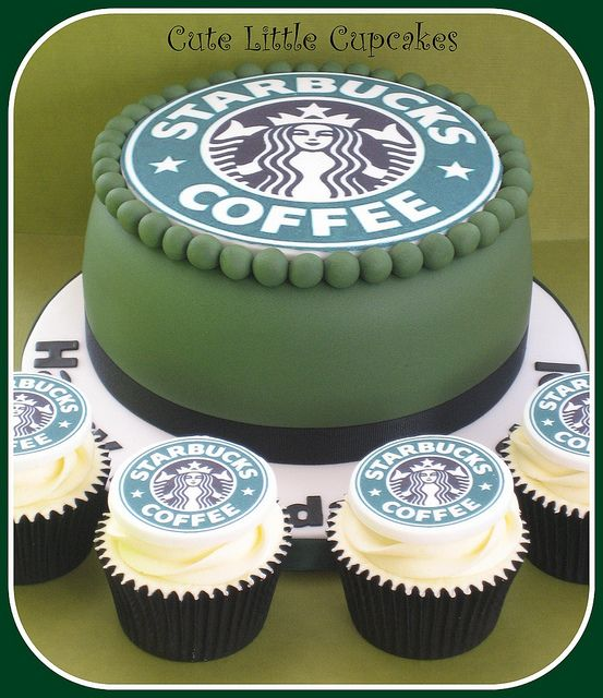 Starbucks themed cake | Starbucks, Cake and Birthdays