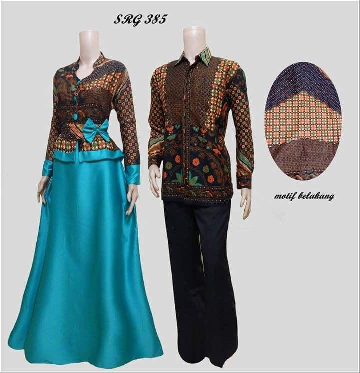 model gamis cantik baju gamis batik sarimbit coklat  a71e831ff5