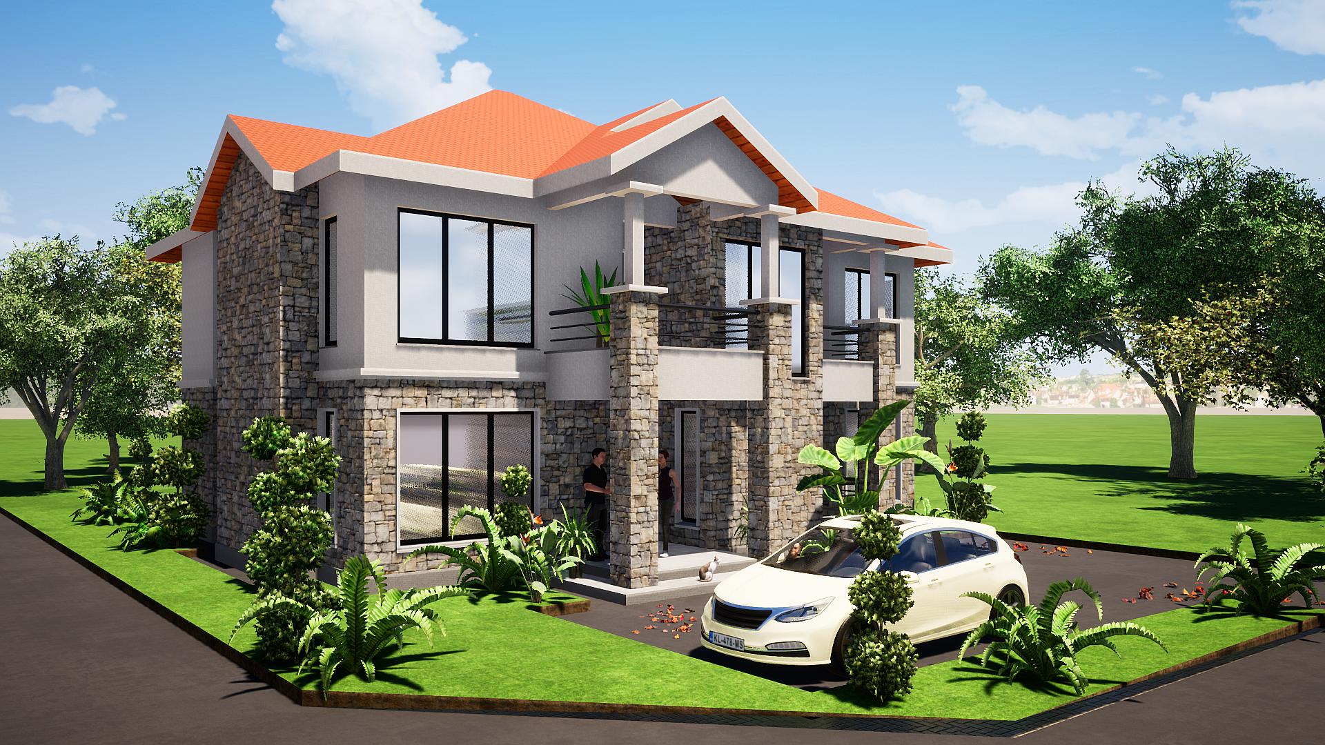 4 Bedroom Maisonette House Plan Muthurwa Com In 2020 Architectural House Plans House Plans Simple House Plans