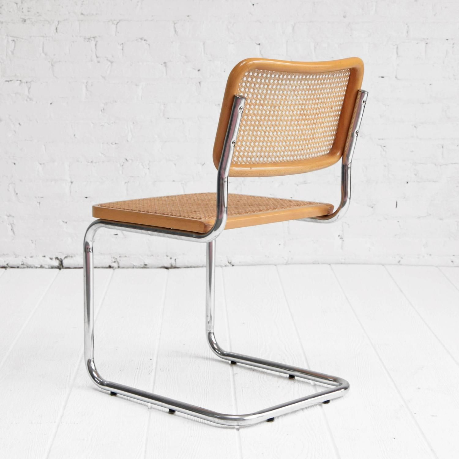 Marcel Breuer Cesca Chairs Chrome and Cane Dining Chairs