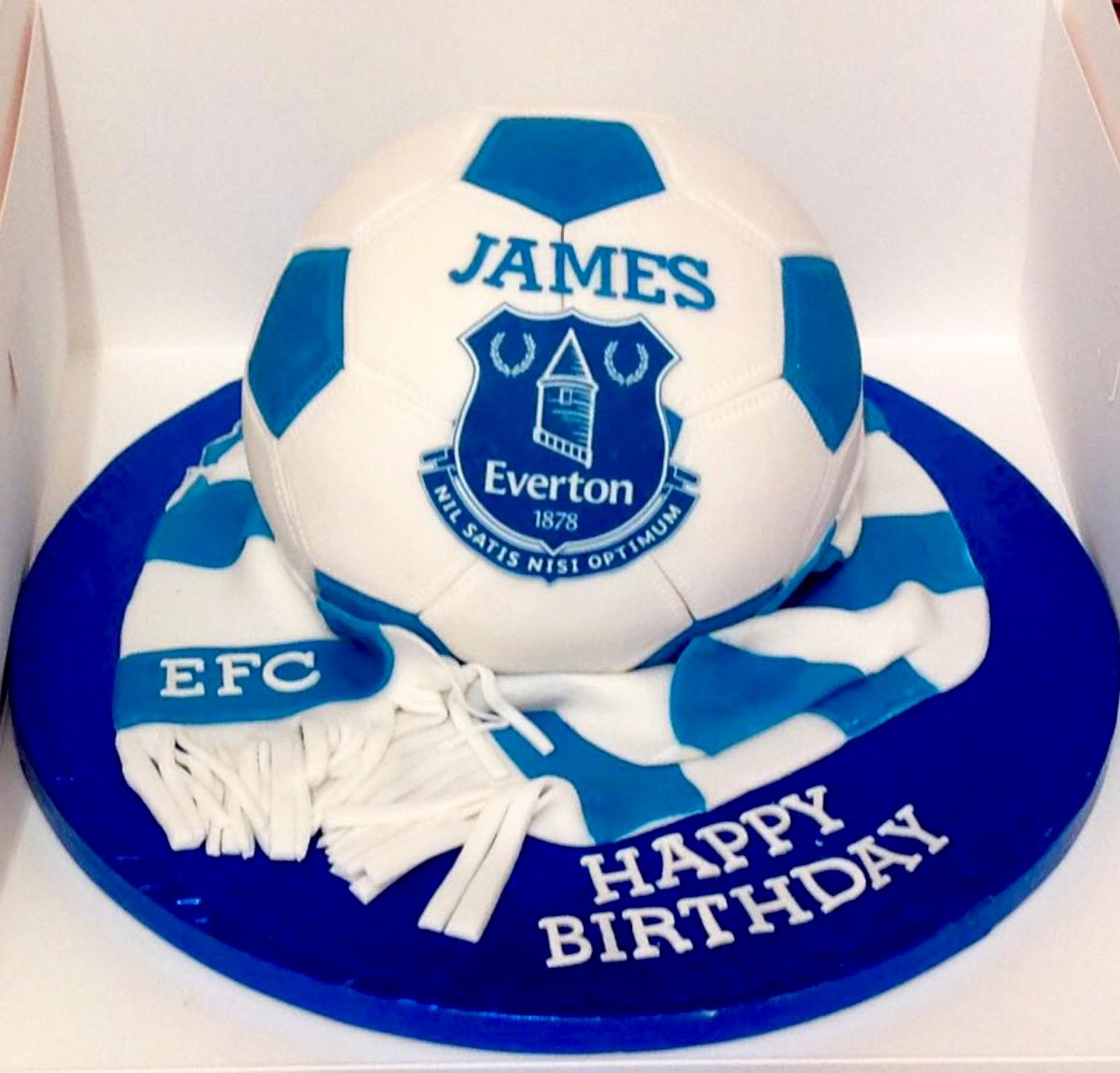 Everton Football Cake 60th Birthday Cakes 16th Welsh Rugby