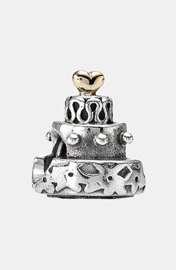 d398bd49f PANDORA Celebration Cake Charm (Pre-wedding gift + my first Pandora charm).  Thanks, @Nat Coburn