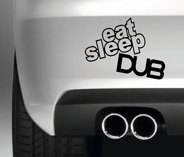 Eat Sleep Dub Camper Van Sticker Vdub Bumper Vinyl Festival Car - Car decals designnew design full car body stickers for ford focus golf mg