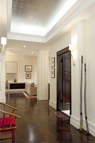 metallic ceiling with up lighting!!!! modern art deco interior ...