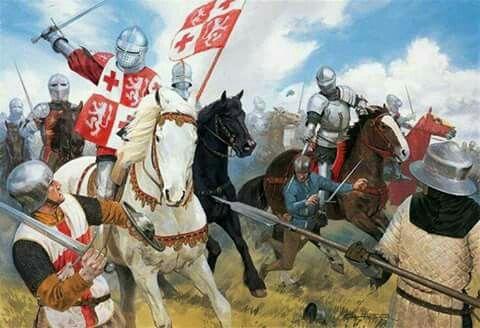 Batalla de Patay en 1429,caballeria francesa ataca a los ingleses por Graham Turner