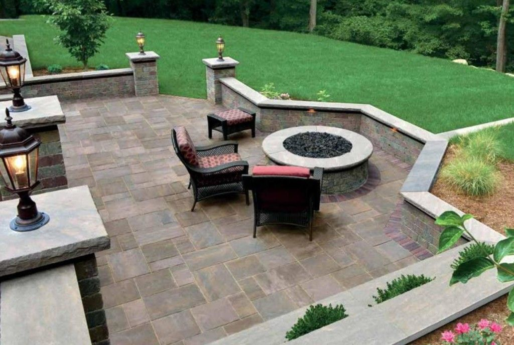 Unilock Fire Pit Classic Design | Backyard patio, Backyard ... on Unilock Patio Ideas id=91912
