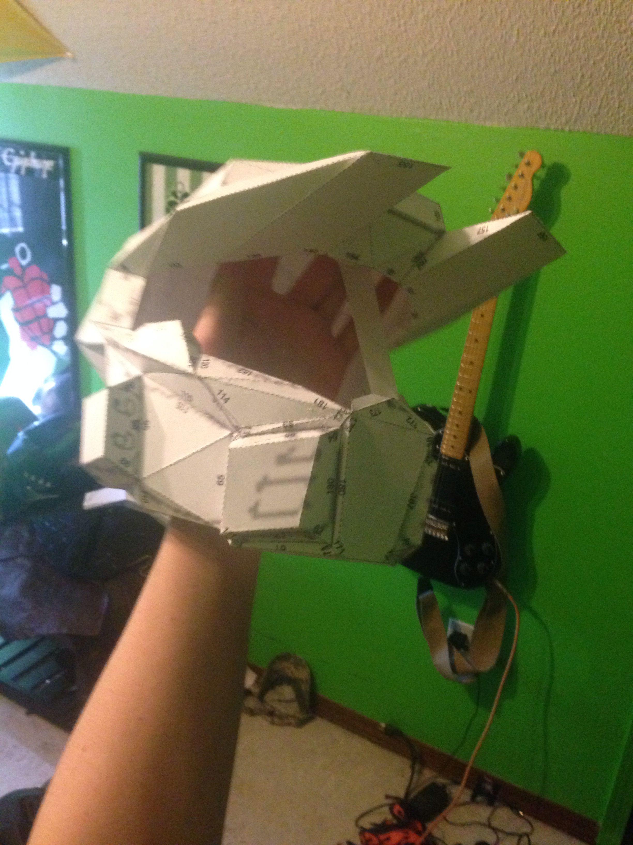 Halo Mk5 helmet ready for fiberglass!