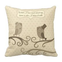 Bird Quote Vintage Old Photo Pillows