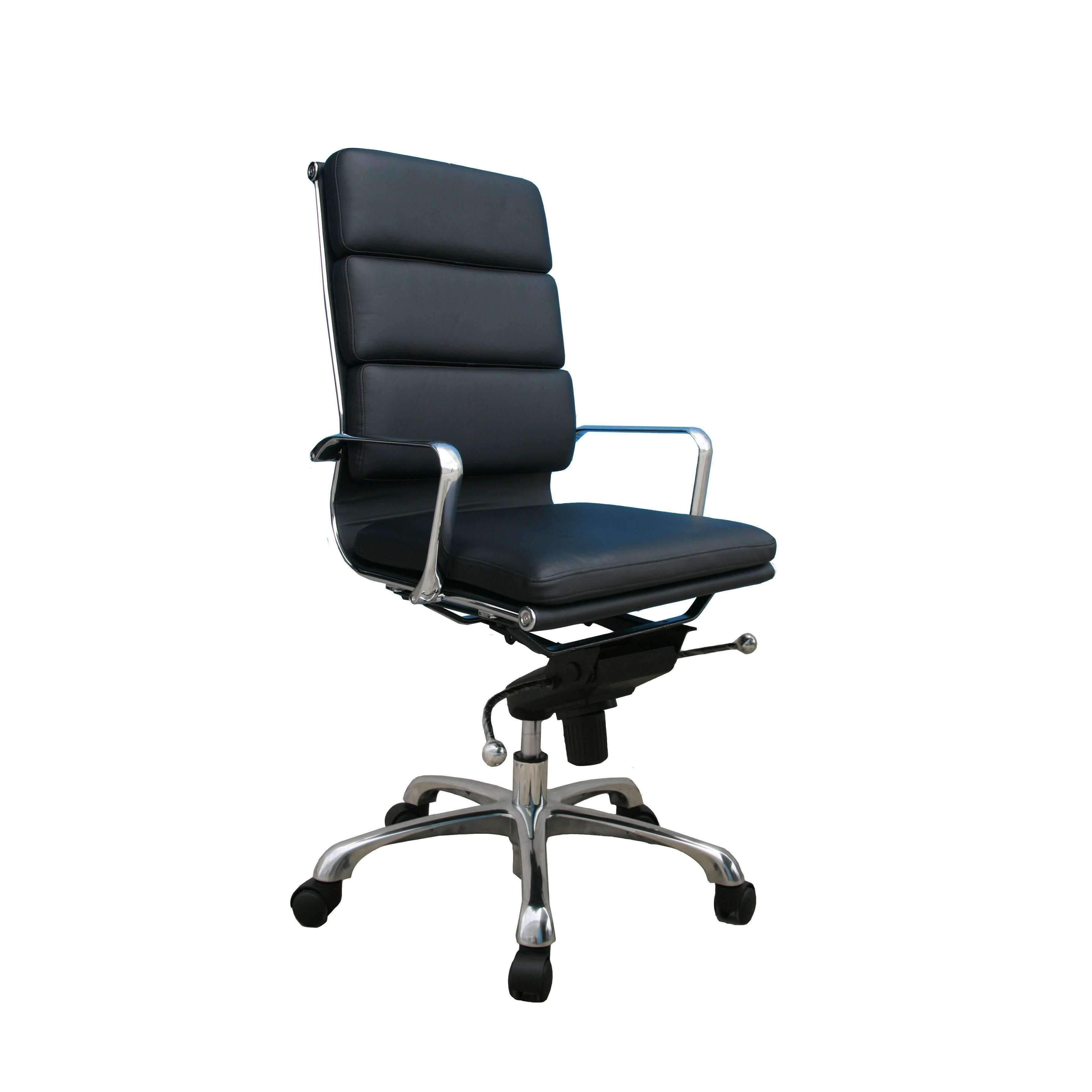 Plush Black High Back Office Chair By J&M (With images