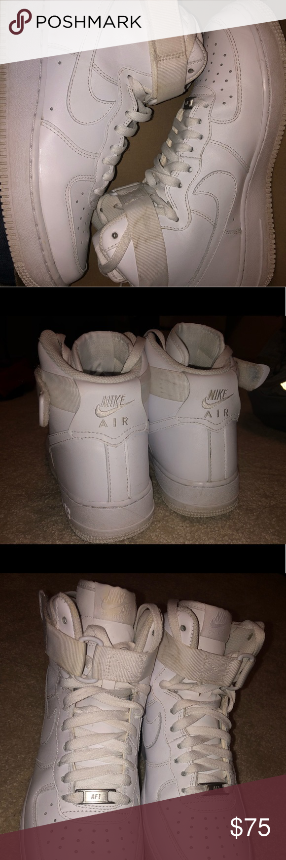 High top Nike Air Force 1 Size 9, Women\u0027s, slightly worn in