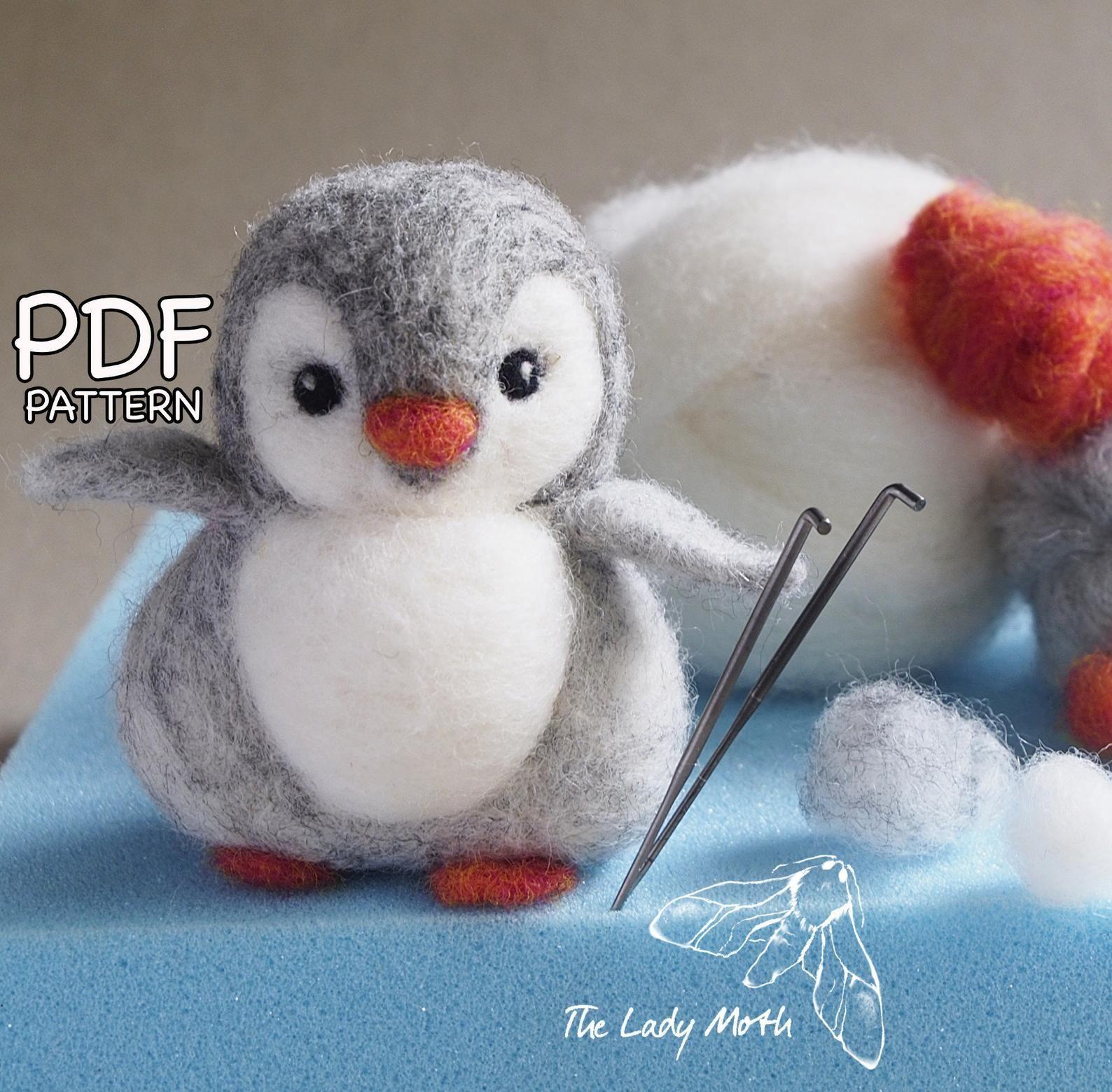 Pinguin Nadelfilzanleitung Von The Lady Moth Pdf Diy Anleitung Basteln Sie Ihre Eigenen Sussen Pinguine Druckbare Anleitung Nadelfilztiere Filz Anleitung Filzarbeiten