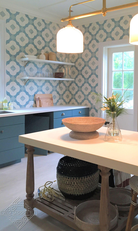 Tom Sheerer Custom Cement Tile Looks Like Wallpaper Love Kitchen Wall Tiles Style Tile Classy Kitchen