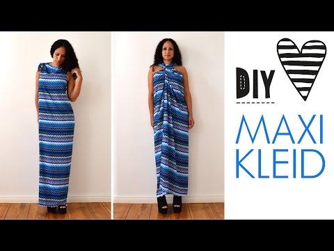 DIY Maxikleid ohne Nähen in 5 Minuten - Sommerkleid ...