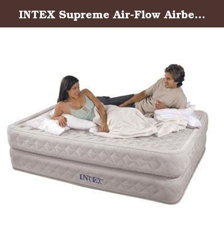 Intex Supreme Air Flow Airbed Kit Qn 66961e Supreme Air Flow Airbed Kit Queen Elevated With Built In 110 120v Elect Air Bed Air Mattress Air Mattresses