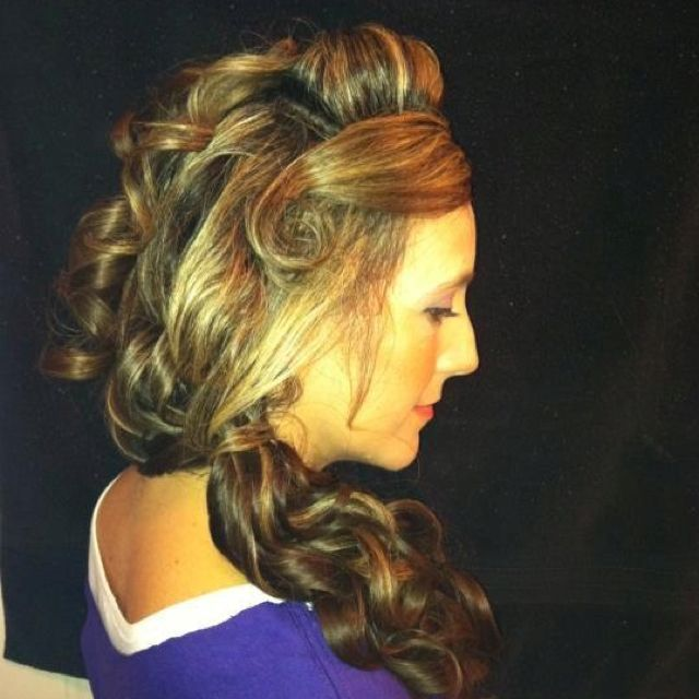 Wedding hair and make up- after-side view