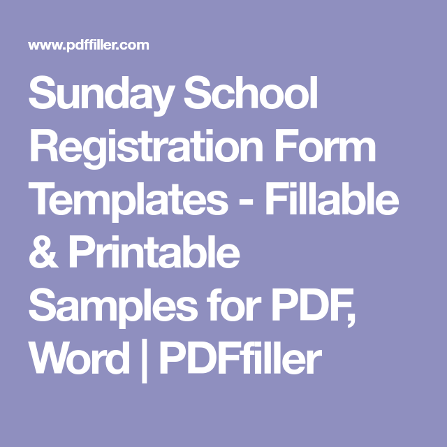 picture relating to Printable Registration Form Template Word titled Sunday College Registration Sort Templates - Fillable