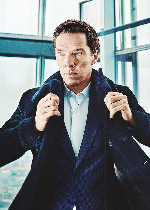 Benedict Cumberbatch photographed by Tomo Brejc for Jaguar Magazine (x)