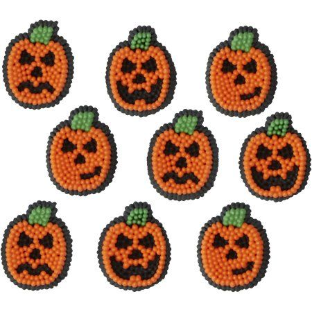 Free Shipping Buy Wilton Halloween Pumpkin Icing Decorations, 710