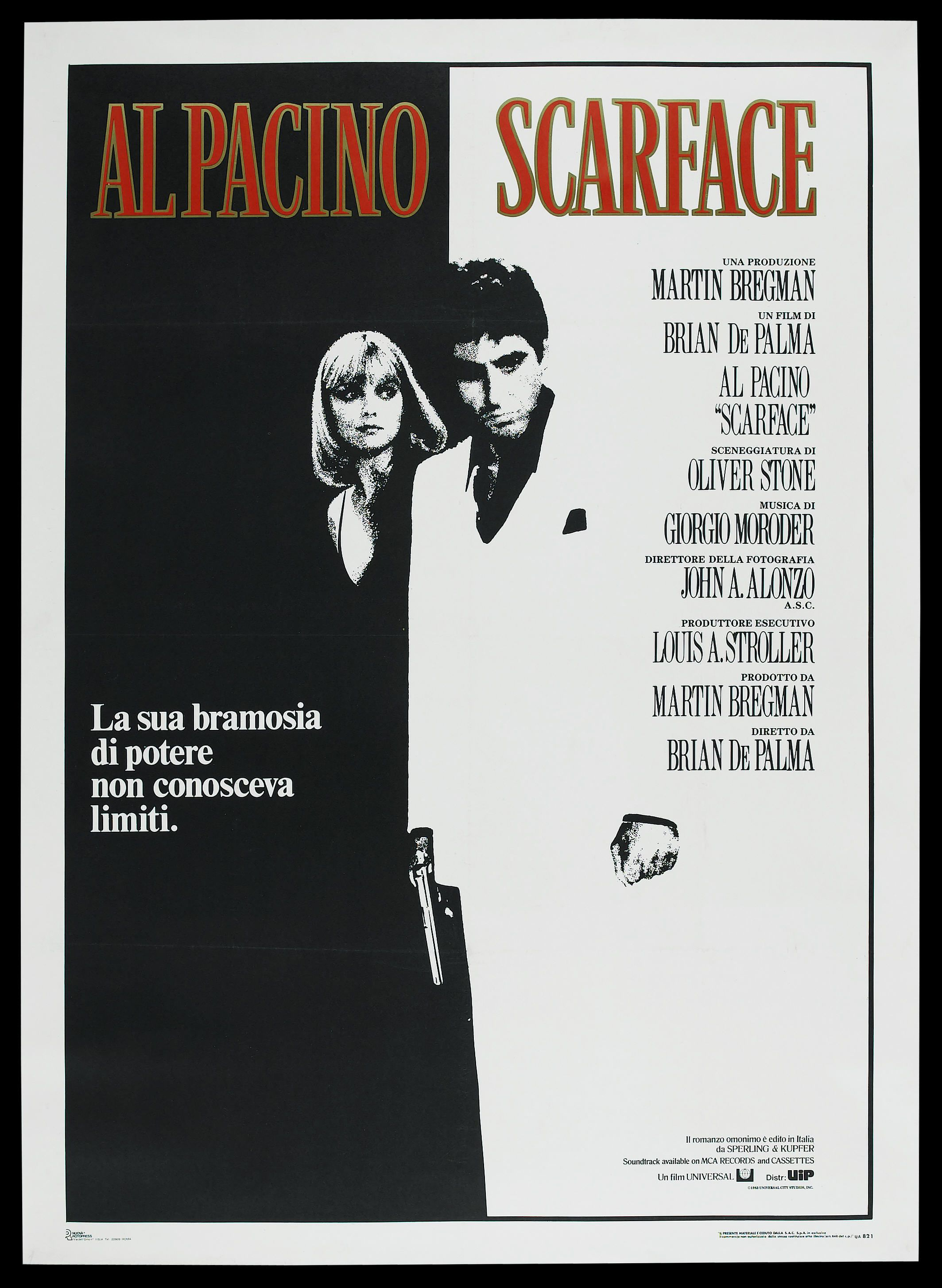 SCARFACE MOVIE POSTER FILM A4 A3 ART PRINT CINEMA 2