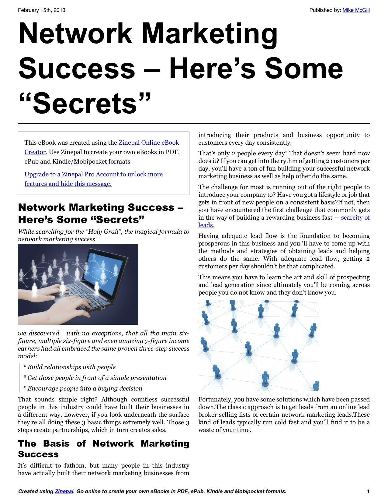 Network marketing success document sharing pinterest network marketing success malvernweather Image collections
