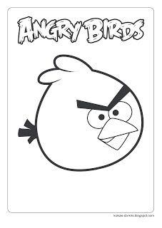 Koisas Da Kris Desenhos Para Colorir A4 Angry Birds Angry