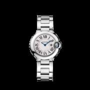 Reloj Ballon Bleu de Cartier, 28 mm Cuarzo, acero, mujer.