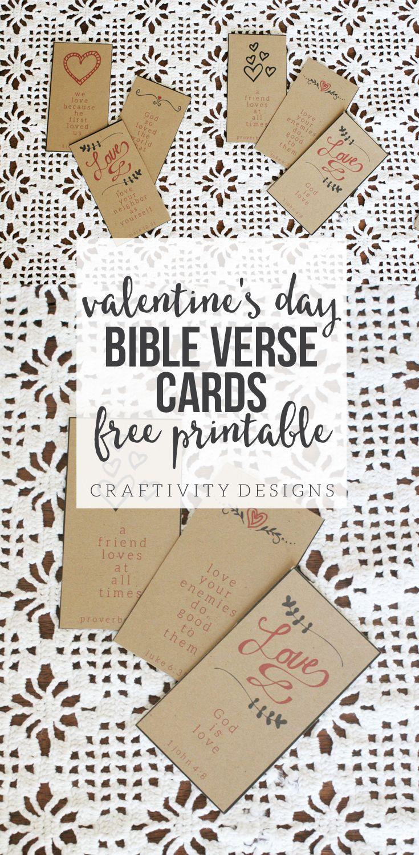 Valentine S Day Bible Verse Cards Diys Crafts Recipes