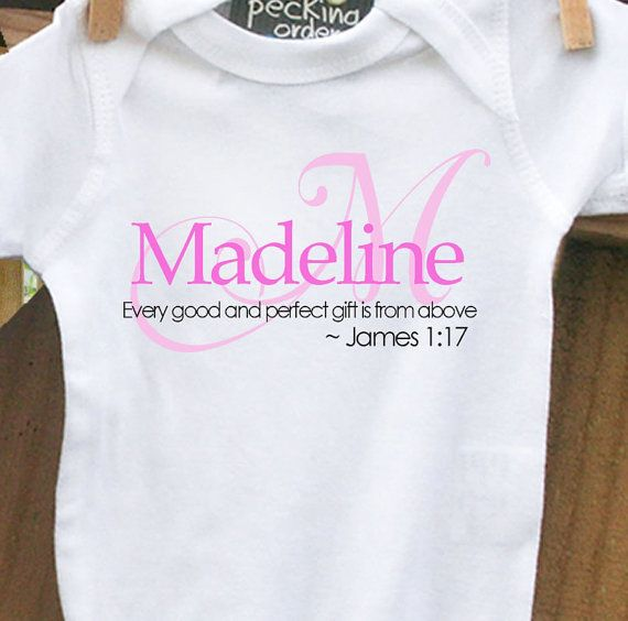Baby shower gift custom personalized monogram baby bodysuit for baby shower gift custom personalized monogram baby onesie for the new little one in your negle Gallery