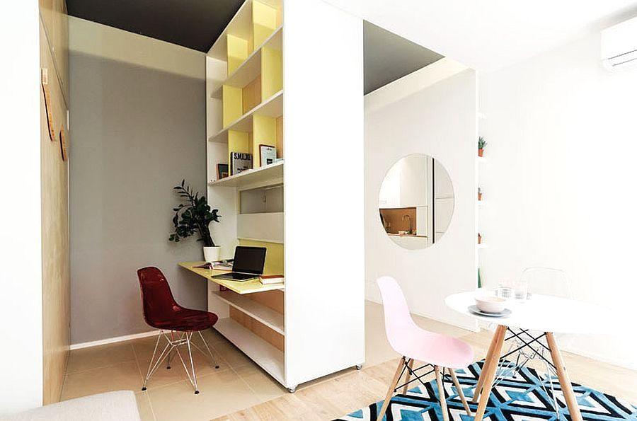 Home Office Bewegliche Wand Mini Wohnung Multifunktional