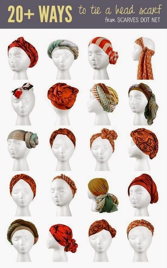 How to tie a head scarf. FREE Spring capsule wardrobe - Day 24