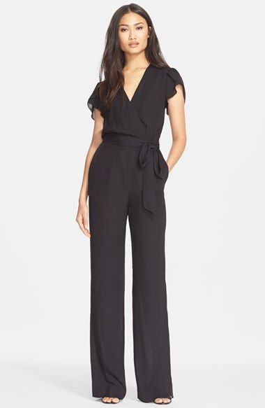 3045c4f6ce3f Free shipping and returns on Diane von Furstenberg  Kacey  Jumpsuit at  Nordstrom.com. A wrap detail in front creates an elegant V-neckline on a  glamorous ...