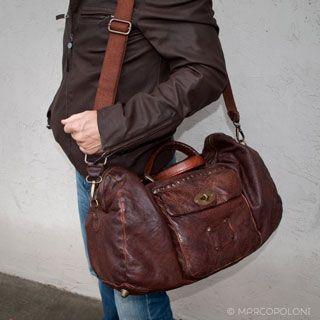 ultime versioni Nuova super speciali VAGABONDO - Distressed Leather Overnight Bag | Men's fashion ...