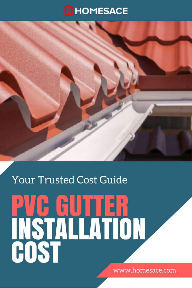 If You Are Considering A Pvc Gutter Installation For Your Home Get A Free Estimate On Your Cost Of Installation Pvc Gutters How To Install Gutters Diy Gutters