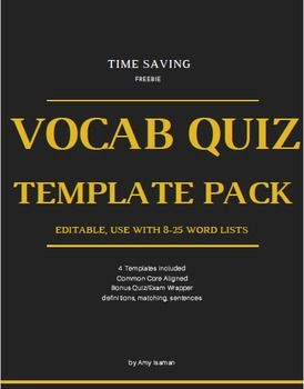 quiz templates word