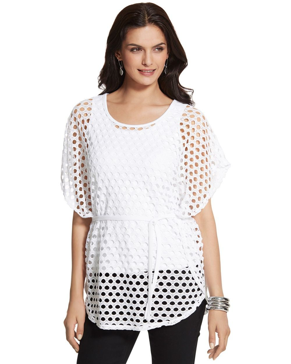 Chicos Owen Open Knit Top Chicos Tops And Sweaters Pinterest