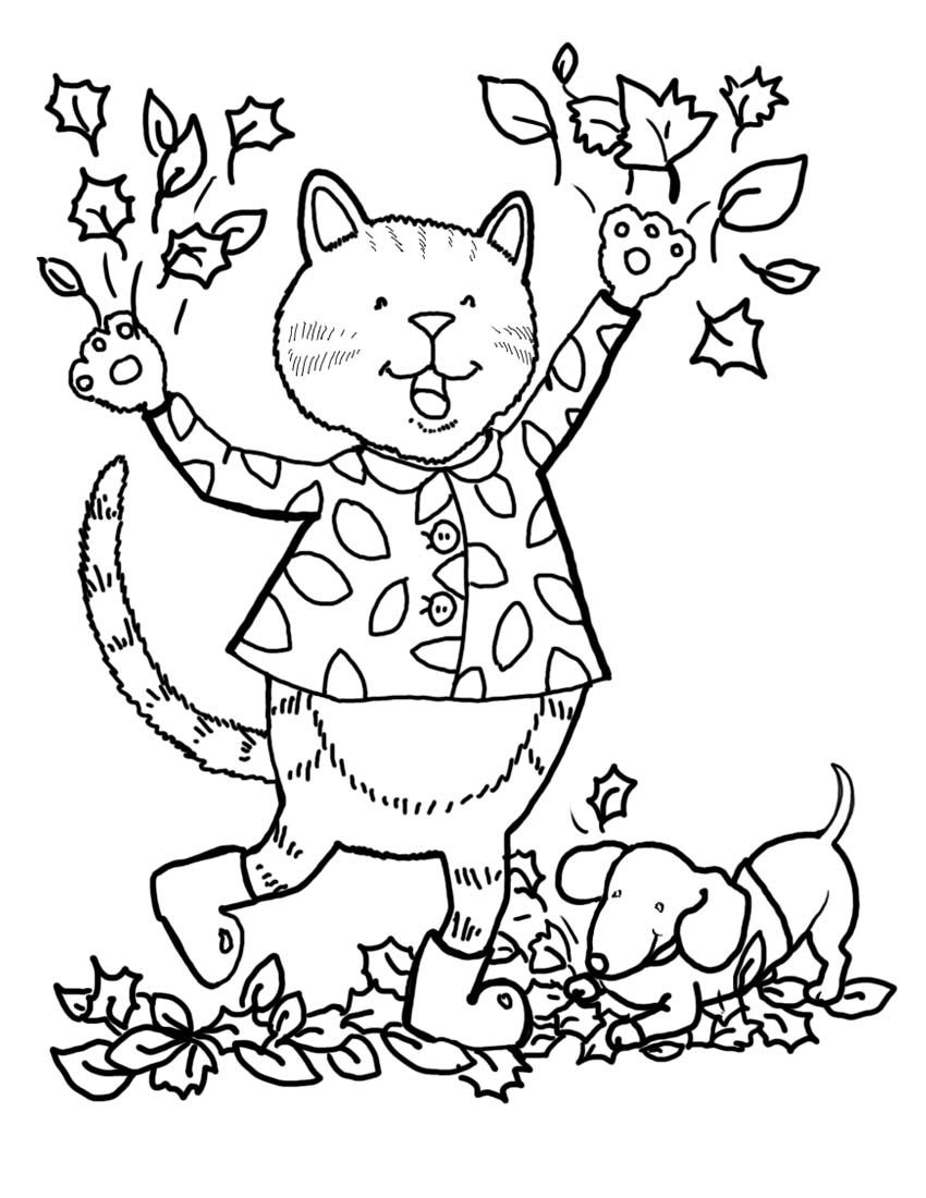 """iColor """"Little Kids Autumn"""" Fall coloring pages"""