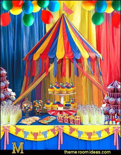 Circus Birthday Party Decorating Ideas Parties Circus