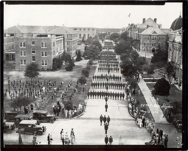 Military Walk 1928 Texas A M University Texas A M College Texas A M
