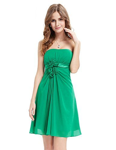 Ever Pretty Flowers Strapless Chiffon Padded Bridesmaids Dress 03538 *** Want additional info? Click on the image.