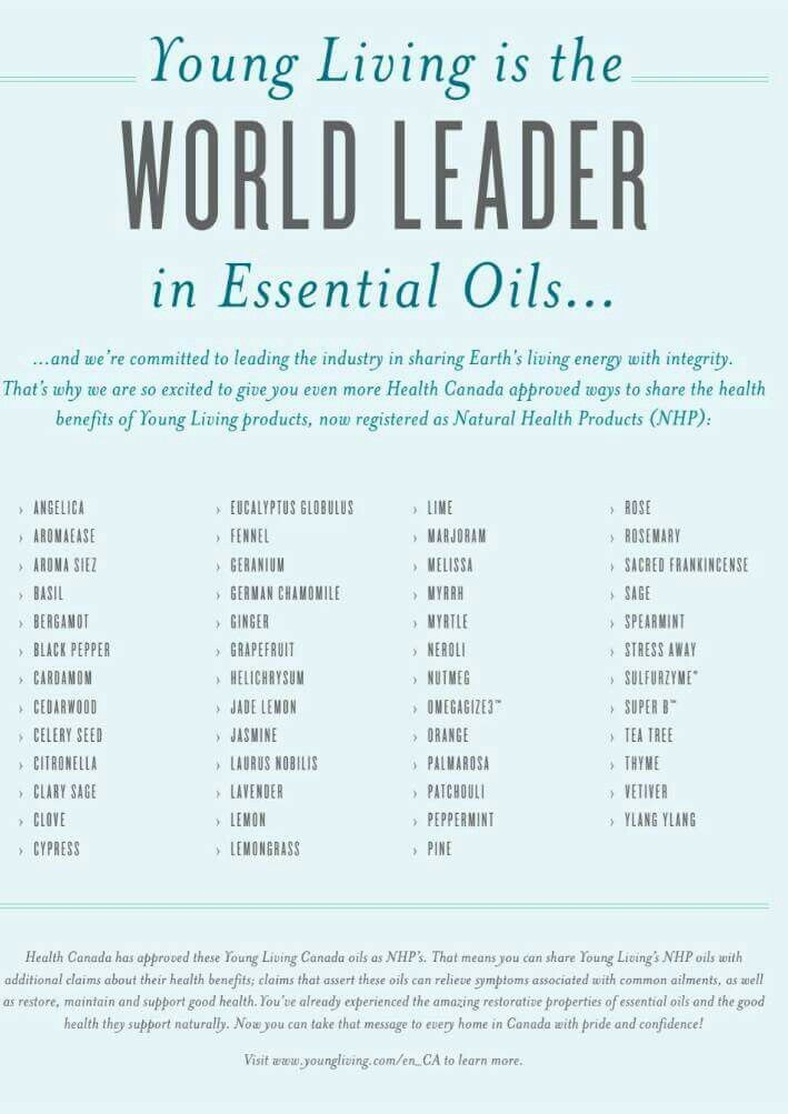 Health Canada has approved some YOUNG LIVING OILS as NATURAL ...