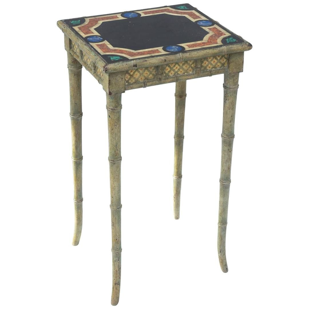 accent table having a square top handpainted as pietra dura rh pinterest com