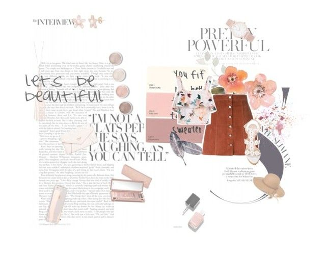 """""""beige-pinks."""" by quintiliangirl ❤ liked on Polyvore featuring Oasis, GUESS, Terre Mère, Larsson & Jennings, Urban Decay, Chanel, Steve Madden, Theory, New Look and Oscar de la Renta"""