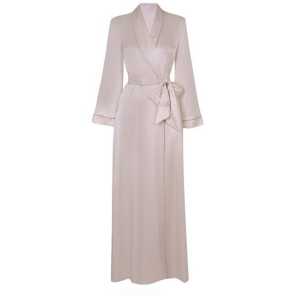 Agent Provocateur Classic Dressing Gown Ivory ($515) ❤ liked on ...