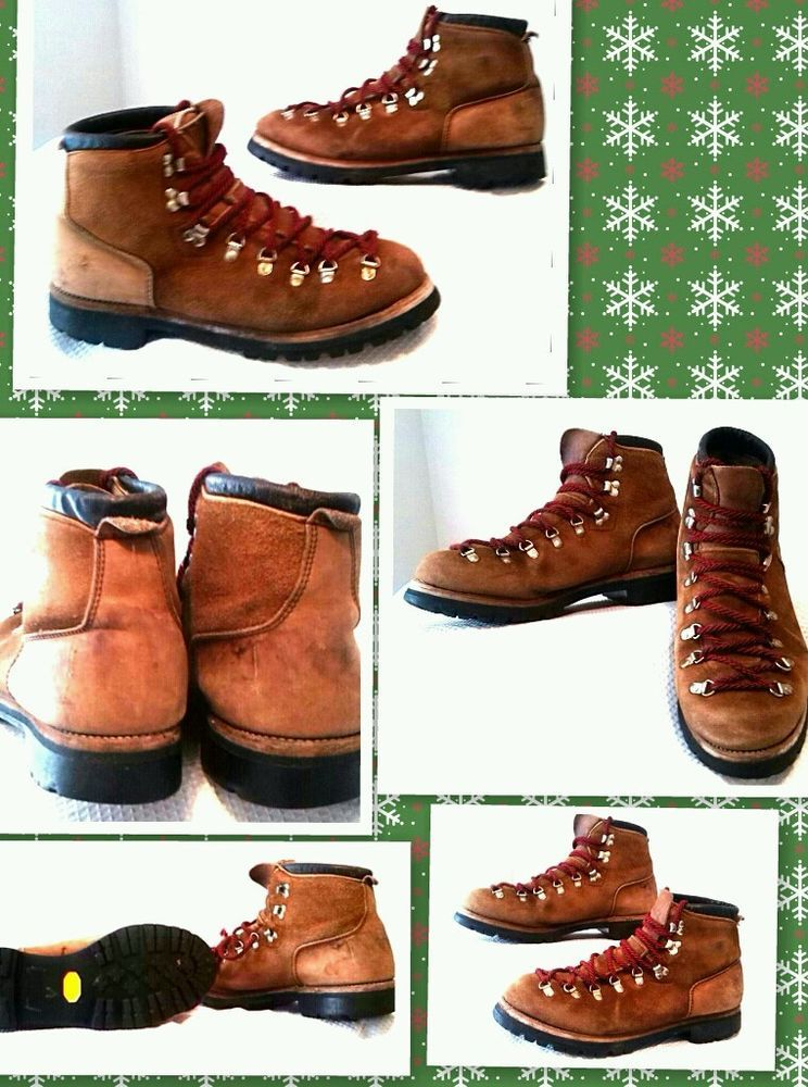 MENS VINTAGE DEXTER HIKING BOOTS VIBRAM SOLE MADE IN USA SIZE 13 #Dexter #HikingTrail