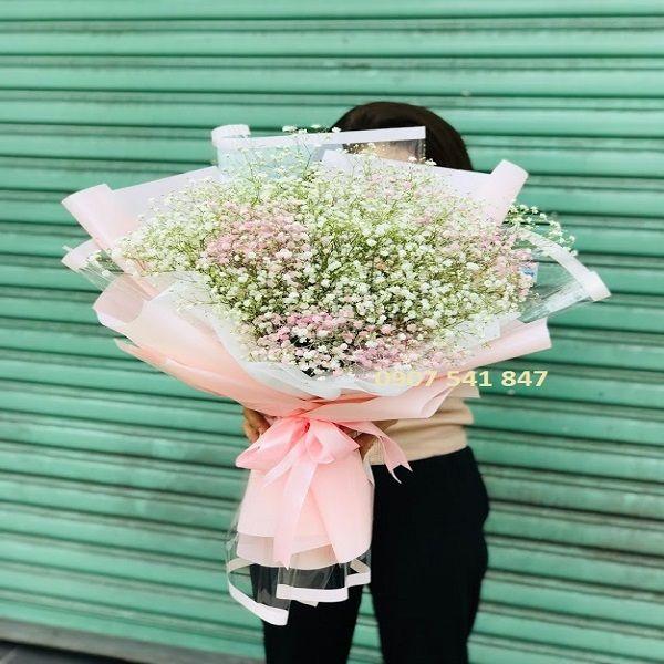 Hoa baby đẹp giá rẻ: Bó hoa 2 Màu trắng và hồng(Sale 600 ...